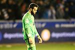 Celta de Vigo's Sergio Alvarez dejected after Spanish Kings Cup semifinal 2nd leg match. February 08,2017. (ALTERPHOTOS/Acero)
