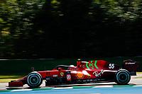 16th April 2021; Autodromo Enzo and Dino Ferrari, Imola, Italy; F1 Grand Prix of Emilia Romagna, Free Practise sessions;  55 SAINZ Carlos (spa), Scuderia Ferrari SF21