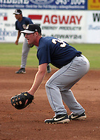July 17, 2003:  Ryan Mulhern of the Mahoning Valley Scrappers, Class-A affiliate of the Cleveland Indians, during a NY-Penn League game at Dwyer Stadium in Batavia, NY.  Photo by:  Mike Janes/Four Seam Images