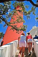 tourists climbing stairs to Jupiter Inlet Lighthouse, Jupiter, Florida, USA, Atlantic Ocean, No MR