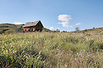 This once proud pioneer family home now sits abandoned on Washington State Department of Fish and Wildlife property outside Winthrop, Washington.  It stands as testament to the rugged nature of both life and people in the early days of European  settlement of the valley.