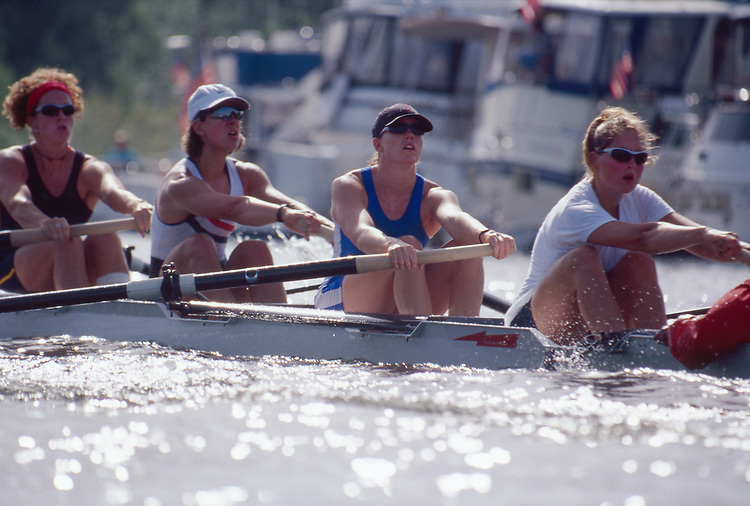 Seattle, US Women's Eight, Windermere Cup Regatta, Opening Day of the rowing season, Wendy Wilbur, center,
