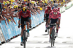 Wout Poels (NED) Bahrain Victorious finishes 3rd at the end of Stage 15 of the 2021 Tour de France, running 191.3km from Céret to Andorre-La-Vieille, Andorra. 11th July 2021.  <br /> Picture: Colin Flockton | Cyclefile<br /> <br /> All photos usage must carry mandatory copyright credit (© Cyclefile | Colin Flockton)
