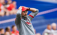 25th August 2020, Red Bull Arena, Slazburg, Austria; Pre-season football friendly, Red Bull Salzburg versus Liverpool FC;  Trainer Juergen Klopp FC Liverpool  as goal chance goes begging