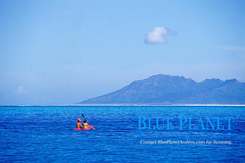 sea kayak, Tahiti Nui, French Polynesia, South Pacific Ocean