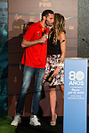 Rudy Fernandez and Marta Fernandez during the 80th Aniversary of the National Basketball Team at Melia Castilla Hotel, Spain, September 01, 2015. <br /> (ALTERPHOTOS/BorjaB.Hojas)