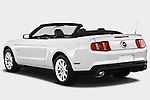 Rear three quarter view of a 2011 ford mustang gt premium convertible