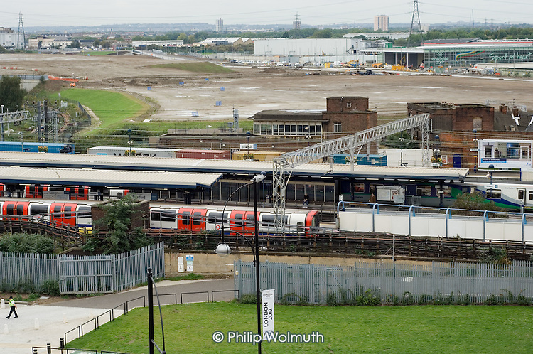 Site of Stratford International station in east London, part of the Channel Tunnel rail link.