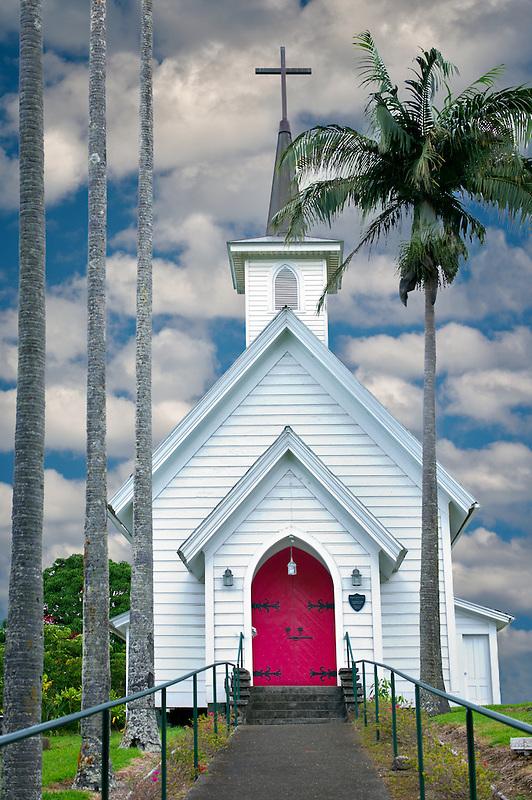 Episcopal Church at Hawi. Hawaii, The Big Island