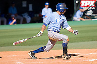 Memphis Tigers outfielder Drew Martinez #1 swings against the Rice Owls in NCAA Conference USA baseball on May 14, 2011 at Reckling Park in Houston, Texas. (Photo by Andrew Woolley / Four Seam Images)