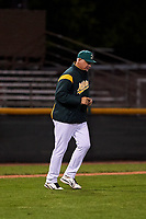 Beloit Snappers pitching coach Don Schulze (37) during a Midwest League game against the Lake County Captains at Pohlman Field on May 6, 2019 in Beloit, Wisconsin. Lake County defeated Beloit 9-1. (Zachary Lucy/Four Seam Images)