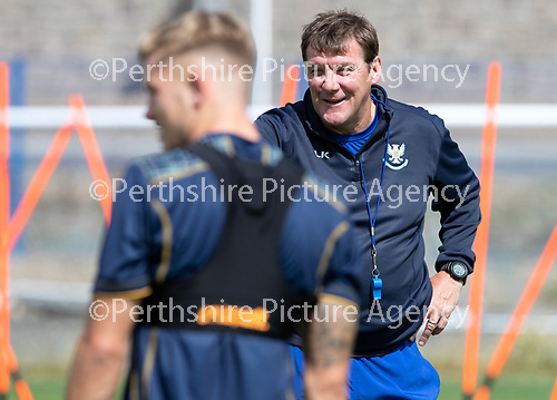St Johnstone Training….23.07.18<br />Manager Tommy Wright pictured during training at McDiarmid Park<br />Picture by Graeme Hart.<br />Copyright Perthshire Picture Agency<br />Tel: 01738 623350  Mobile: 07990 594431
