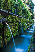 Faces of the Hundred Fountains, in the16th century Italian Renaissance garden of the UNESCO Word Heritage Villa d'Este in Tivoli, near Rome, Italy