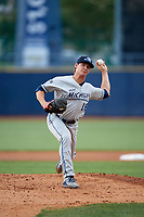 West Michigan Whitecaps starting pitcher Locke St. John (18) delivers a pitch during the second game of a doubleheader against the Lake County Captains on August 6, 2017 at Classic Park in Eastlake, Ohio.  West Michigan defeated Lake County 9-0.  (Mike Janes/Four Seam Images)