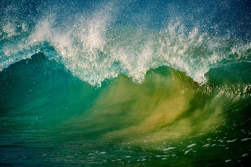 Wave at Hapuna Beach. Hawaii. The Big Island
