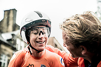 defending champion Annemiek van Vleuten (NED/Mitchelton-Scott) finishes 3rd in the Elite Women Individual Time Trial<br /> <br /> 2019 Road World Championships Yorkshire (GBR)<br /> <br /> ©kramon
