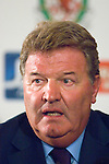 John Toshack announces that he is stepping down from his post as Manager of the Wales National Football team during a press conference at the Vale Hotel in Cardiff, UK..