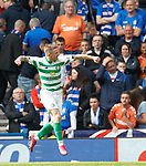 01.09.2019 Rangers v Celtic: Jonny Hayes celebrates his goal