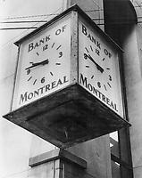 Bank of Montreal clock<br /> <br /> Photo : Boris Spremo - Toronto Star archives - AQP