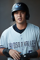 Anthony Volpe (5) of the Hudson Valley Renegades during the game against the Aberdeen IronBirds at Leidos Field at Ripken Stadium on July 23, 2021, in Aberdeen, MD. (Brian Westerholt/Four Seam Images)