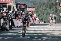 Chris Froome (GBR/SKY) riding over the line in 3rd & becoming the new GC leader<br /> <br /> 104th Tour de France 2017<br /> Stage 5 - Vittel › La Planche des Belles Filles (160km)