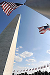 Washington Monument and flags Washington DC, Washington Monument,US Capital, United States Capital with flags, US flags, Lincoln memorial and washington monumnet, Washington DC, District, DC, capital, Potomac River, Washington Metropolitain, metropolitan area, federal district, federal government of USA, US Congress, White House, National Mall, Politics in the United States, Presidential, Federal Republic, united States Congress, powers, Judicial Power, House of Representatives, US Senate, Consitiution, federal law, Democratic Party, Republican party, two party system, Fine Art Photography by Ron Bennett, Fine Art, Fine Art photo, Art Photography,