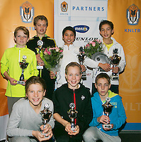 01-12-13,Netherlands, Almere,  National Tennis Center, Tennis, Winter Youth Circuit, Boys 16 years ,all finalists :  <br /> Photo: Henk Koster