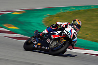1st April 2021; Circuit de Barcelona Catalunya, Barcelona, Spain; FIM Superbike World Championship Testing; Michael Van Der Mark of the MW Motorrad WORLDSBK Team in action with the BMW S1000 RR