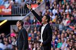 FC Barcelona's coach Luis Enrique Martinez during the La Liga match between Futbol Club Barcelona and Deportivo de la Coruna at Camp Nou Stadium Spain. October 15, 2016. (ALTERPHOTOS/Rodrigo Jimenez)