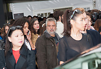 October 1 2017, PARIS FRANCE the l'Oreal Show at the Paris Fashion Week<br /> Spring Summer 2017:2018. Director Luc Besson leaves the show.