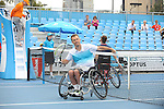DAVID WAGNER (USA) WINS wheelchair trophy at Australian Open in Melbourne Australia on 26th January 2013