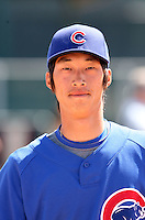 Hak-Ju Lee, Chicago Cubs 2010 minor league spring training..Photo by:  Bill Mitchell/Four Seam Images.