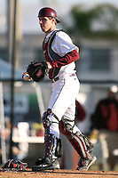 February 20, 2009:  Catcher Kyle Knudson (6) of the University of Minnesota during the Big East-Big Ten Challenge at Jack Russell Stadium in Clearwater, FL.  Photo by:  Mike Janes/Four Seam Images