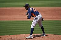 Houston Astros pitcher Enoli Paredes (48) during a Major League Spring Training game against the Miami Marlins on March 21, 2021 at Roger Dean Stadium in Jupiter, Florida.  (Mike Janes/Four Seam Images)