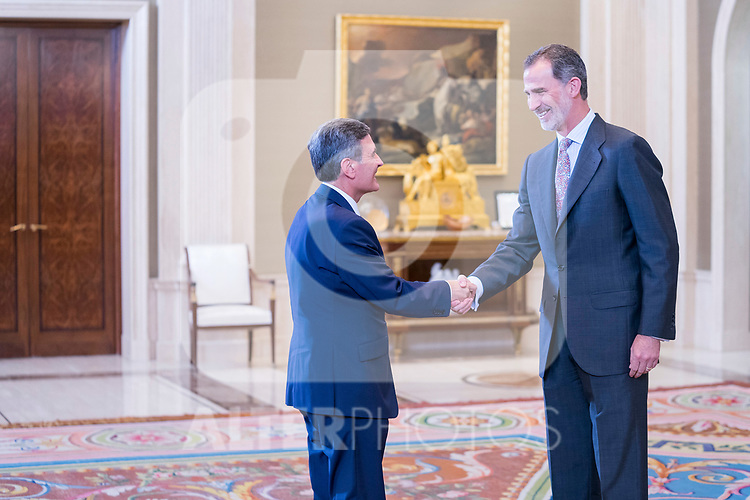 King Felipe during the audience with promotion of technical engineers of public works of the state corresponding to the offer of public employment 2017. July 8 ,2019. (ALTERPHOTOS/Francis Gonzalez)