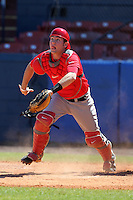 Ohio State Buckeyes Greg Solomon #16 during a game vs. the Illinois State Redbirds at Chain of Lakes Park in Winter Haven, Florida;  March 11, 2011.  Illinois defeated Ohio State 12-1.  Photo By Mike Janes/Four Seam Images