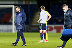 Ross County v St Johnstone…02.01.21   Global Energy Stadium     SPFL<br />Saints boss Callum Davidson walks across the pitch at full time<br />Picture by Graeme Hart.<br />Copyright Perthshire Picture Agency<br />Tel: 01738 623350  Mobile: 07990 594431
