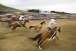 Big loop horse roping, Jordan Valley Big Loop Rodeo..