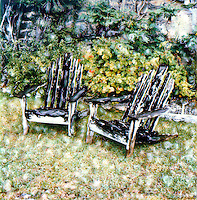 Nothing is more relaxing than watching the ocean and the ships go by. These chairs are our haven in the late afternoon. Join us for a drink sometime.<br />