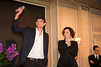 Eric Altmayer and French Minister of Culture and Communication, Audrey Azoulay attend the 'Diner des Producteurs' - Producer's Dinner - Cesar 2017. Held at Four Seasons Hotel George V on February 20, 2017 in Paris, France. # DINER DES PRODUCTEURS DES CESAR 2017