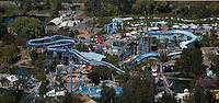 aerial photograph of California's Great America amusement park, Santa Clara, California