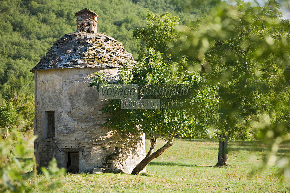 Europe/France/Midi-Pyrénées/12/Aveyron/Camboulan: Caselle - Pigeonnier en pierre sèche