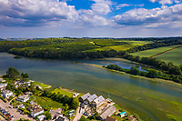 BNPS.co.uk (01202 558833)<br /> Pic: ShorePartnership/BNPS<br /> <br /> Pictured: Restronguet Creek.<br /> <br /> A brand new waterfront home perfect for paddleboarders is on the market for £1.3m.<br /> <br /> Creek View is built on a former boatyard and has direct water access to Restronguet Creek from steps in the back garden.<br /> <br /> The contemporary four-bedroom house has an open-plan living space and floor-to-ceiling glass overlooking the water to make the most of its stunning location.