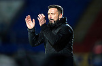 St Johnstone v Aberdeen…13.12.17…  McDiarmid Park…  SPFL<br />Derek McInnes applauds the fans at full time<br />Picture by Graeme Hart. <br />Copyright Perthshire Picture Agency<br />Tel: 01738 623350  Mobile: 07990 594431