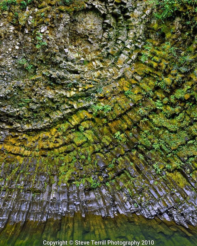 Basalt formation along Molalla River in Clackamas County Oregon