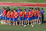Spanish football team durign the first training of the concentration of Spanish football team at Ciudad del Futbol de Las Rozas before the qualifying for the Russia world cup in 2017 August 29, 2016. (ALTERPHOTOS/Rodrigo Jimenez)