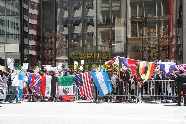 NEW YORK, NY - MAY 6:  Participants at the La Marcha de Mayo in New York, New York on May 6, 2017.  <br /> CAP/MPI/RMP<br /> ©RMP/MPI/Capital Pictures