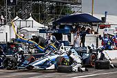 2017 Verizon IndyCar Series - Firestone Grand Prix of St. Petersburg<br /> St. Petersburg, FL USA<br /> Sunday 12 March 2017<br /> Max Chilton pit stop<br /> World Copyright:Sam Cobb/LAT Images<br /> ref: Digital Image cobb-stpete-170312-4385