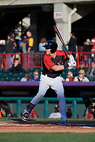 Erie SeaWolves Josh Lester (17) at bat during an Eastern League game against the Altoona Curve on June 3, 2019 at UPMC Park in Erie, Pennsylvania.  Altoona defeated Erie 9-8.  (Mike Janes/Four Seam Images)