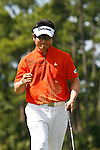 PALM BEACH GARDENS, FL. - Y.E. Yang pumps his fist after a birdie on hole 3 to go 8 under par during final round play at the 2009 Honda Classic - PGA National Resort and Spa in Palm Beach Gardens, FL. on March 8, 2009.